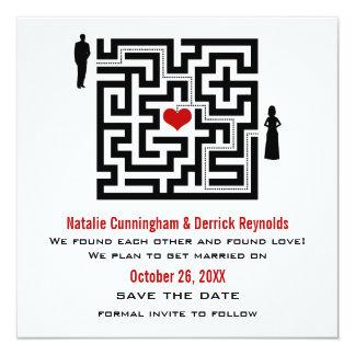Love Maze Save the Date Invite