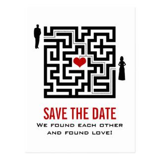 Love Maze Save the Date Postcard