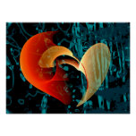 Love Me Abstract Art Poster