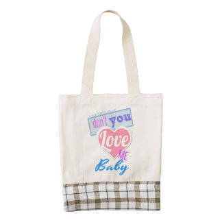 Love Me Baby Zazzle HEART Tote Bag