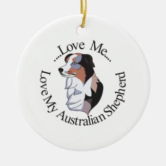 Love Me… Ceramic Ornament
