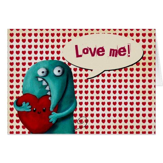 LOVE ME! Cute Guy Card
