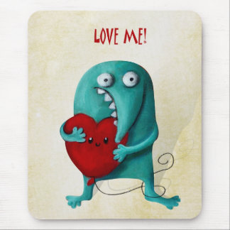 LOVE ME! Cute Guy Mouse Pads