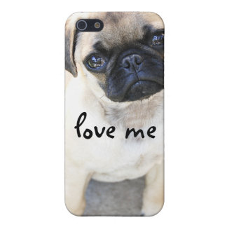 love me - cute mops iPhone SE/5/5s cover