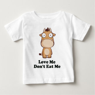 Love Me Don't Eat Me Cow Design Baby T-Shirt
