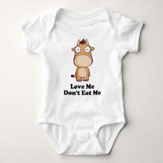 Love Me Don't Eat Me Cow Design Tee Shirts