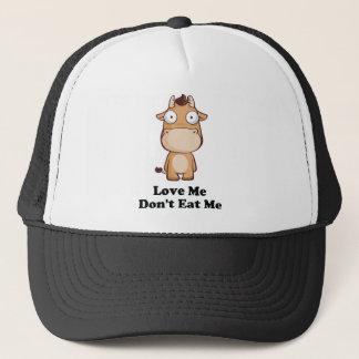 Love Me Don't Eat Me Cow Design Trucker Hat