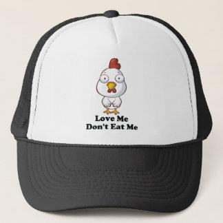 Love Me Don't Eat Me Hen Design Trucker Hat