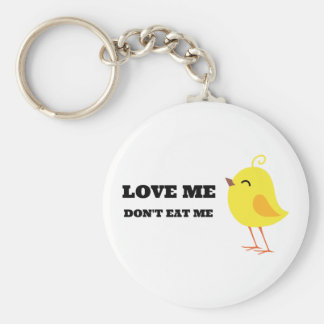 Love me, don't eat me! keychain