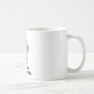 Love Me Don't Eat Me Pig Design Coffee Mug