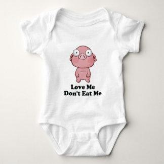 Love Me Don't Eat Me Pig Design Shirt
