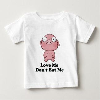 Love Me Don't Eat Me Pig Design T Shirt