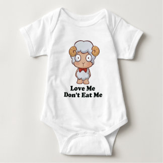 Love Me Don't Eat Me Sheep Design Baby Bodysuit