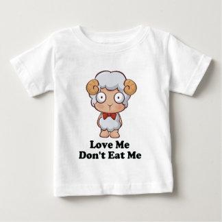 Love Me Don't Eat Me Sheep Design Baby T-Shirt