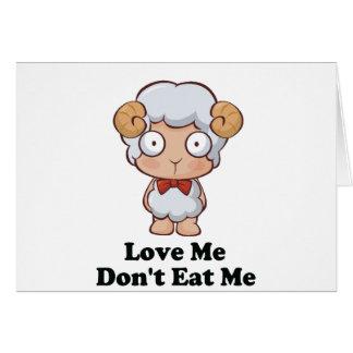 Love Me Don't Eat Me Sheep Design Card