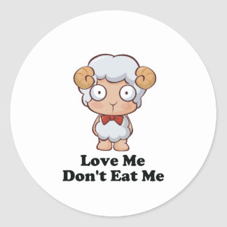 Love Me Don't Eat Me Sheep Design Stickers
