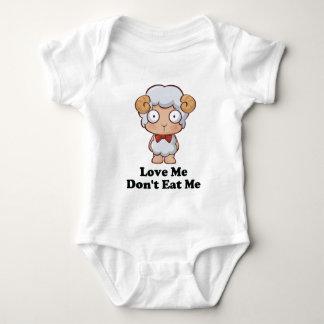 Love Me Don't Eat Me Sheep Design Tee Shirts