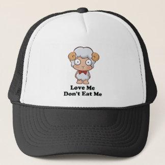 Love Me Don't Eat Me Sheep Design Trucker Hat
