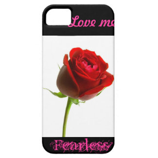 Love me fearless (rose) iPhone SE/5/5s case