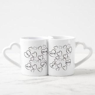 Love me-hold me-kiss me-spoil me Lovers Mug