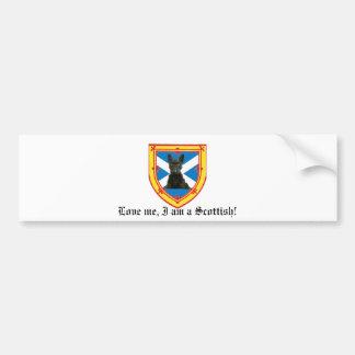 Love me, I am a Scottish! Car Bumper Sticker