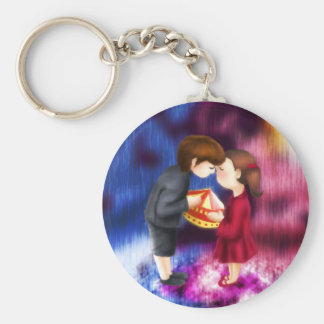 Love Me if you Dare Basic Round Button Keychain