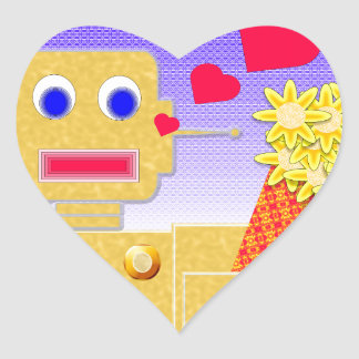 Love Me, I'm a Bot Heart Sticker