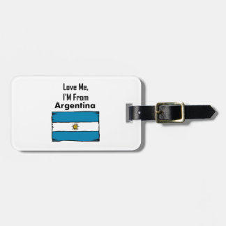 Love Me, I'M From Argentina Tags For Bags
