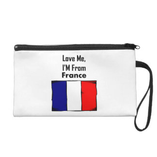 Love Me, I'M From France Wristlet Clutch