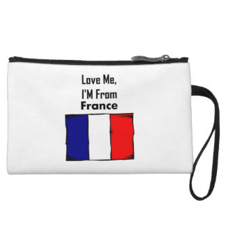 Love Me, I'M From France Wristlet Clutches