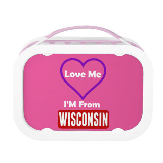 Love Me, I'M From Wisconsin Lunch Box