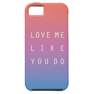 Love me like you do iPhone SE/5/5s case