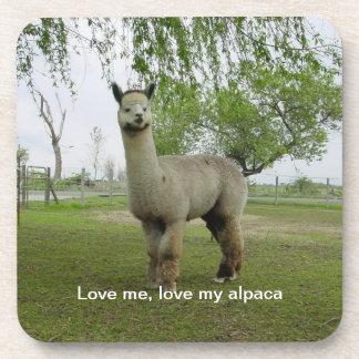 Love Me, Love My Alpaca Coaster