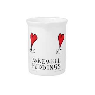 love me love my bakewell puddings, tony fernandes beverage pitcher