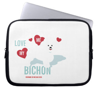 Love Me Love My Bichon Laptop Case Computer Sleeves