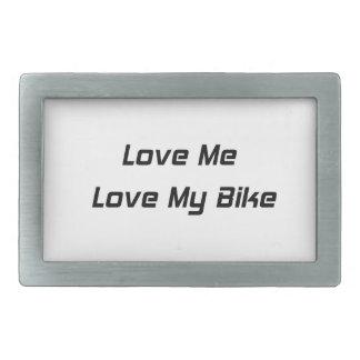 Love Me Love My Bike Rectangular Belt Buckle