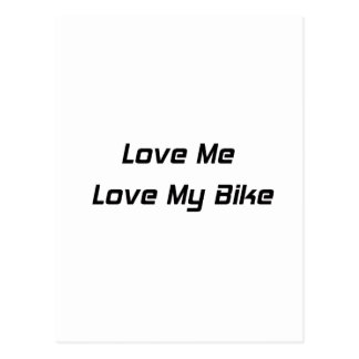 Love Me Love My Bike Postcard