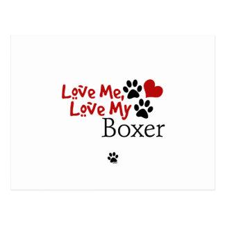 Love Me, Love My Boxer Postcard
