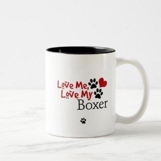 Love Me, Love My Boxer Two-Tone Coffee Mug