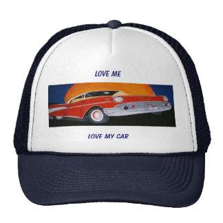 LOVE ME LOVE MY CAR ball cap Trucker Hat