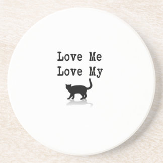Love Me Love My Cat Drink Coaster