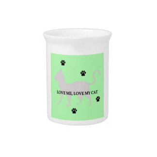 Love Me, Love My Cat Drink Pitcher
