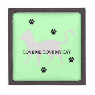 Love Me, Love My Cat Premium Trinket Box