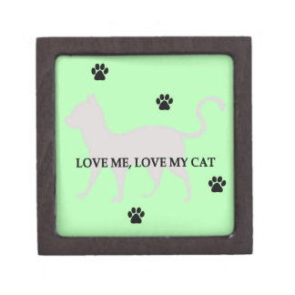 Love Me, Love My Cat Premium Trinket Boxes