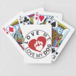 love me love my dog poker deck