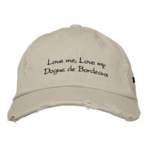 Love me, Love my Dogue de Bordeaux Stonewashed Cap