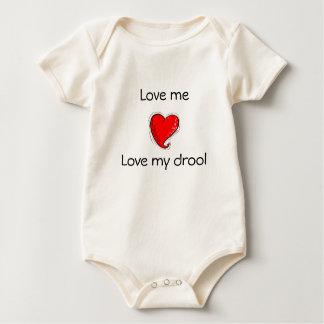 Love me, Love my drool Baby Bodysuit
