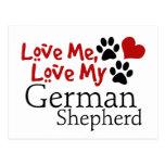 Love Me, Love My German Shepherd Post Cards