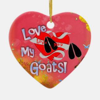 LOVE ME? LOVE MY GOATS! CHRISTMAS ORNAMENT HEART