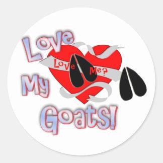 Love Me? Love My Goats! Classic Round Sticker
